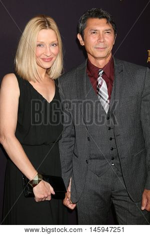 LOS ANGELES - AUG 22:  Yvonne Boismier Phillips, Lou DIamond Phillips at the Television Academy's Performers Peer Group Celebration at the Montage Hotel on August 22, 2016 in Beverly Hills, CA