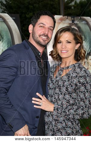 LOS ANGELES - AUG 31:  Matt Katrosar, Melissa Claire Egan at the