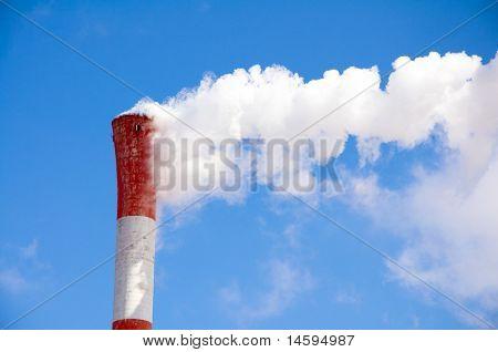 Red-white chimney