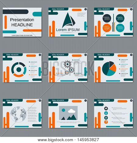 Professional business presentation vector geometric design template