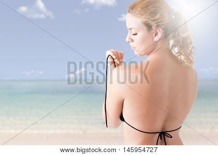 Woman In Bikini From The Back