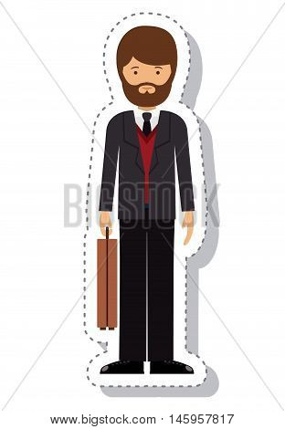 businessman and cartoon icon. profession worker and occupation theme. Isolated design. Vector illustration