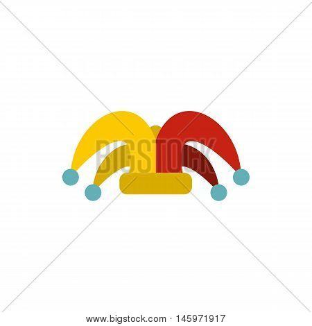 Clown hat icon in flat style isolated on white background. Joke symbol vector illustration