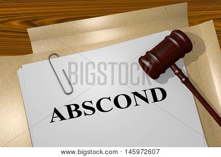 Abscond - Legal Concept