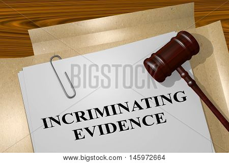 Incrimination Evidence - Legal Concept