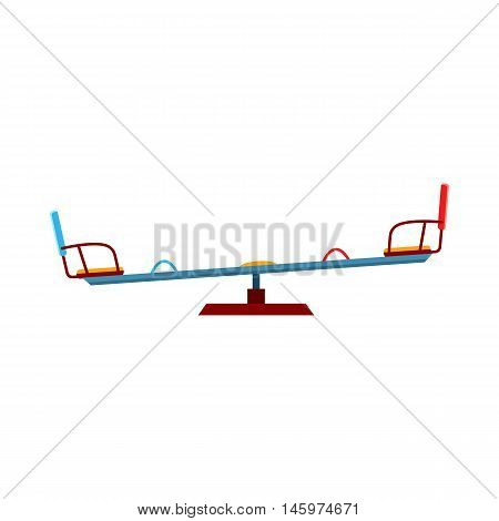 Swing balancer icon in cartoon style isolated on white background. Attraction symbol vector illustration