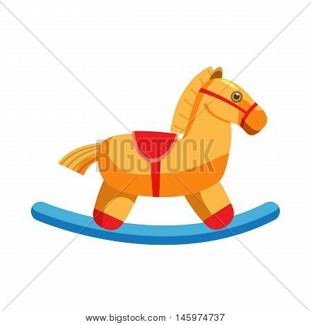 Horse rocking icon in cartoon style isolated on white background. Toy symbol vector illustration