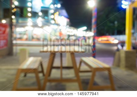 Table light bright image blur in night time and relax