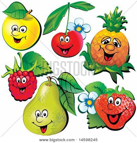 Funny fruits.