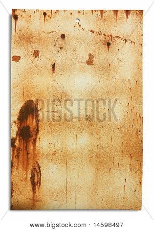 Rusty Sheet - Clipping Path