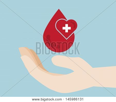blood donation blood donor blood donate vector illustration