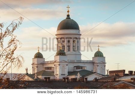 Helsinki lutheran Cathedral St Nicholas Church in Helsinkii Finland