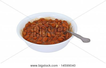 Pinto Beans With Spoon