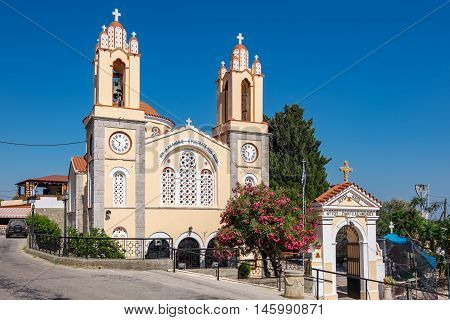 Church of St. Panteleimon in Siana was built over 400 years ago. Rhodes Dodecanese Islands Greece Europe