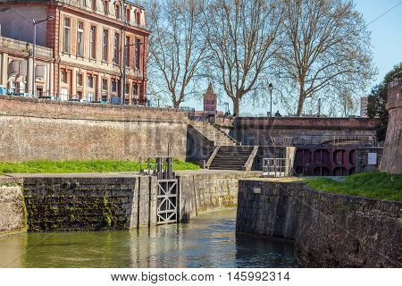 Old Gates To Canal Du Midi , Toulouse, France