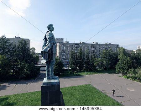 NIZHNY NOVGOROD, RUSSIA AUGUST 21, 2016 :Monument to Maxim Gorky on the pedestal.