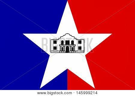 Flag of San Antonio in Texas United States