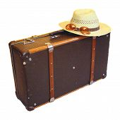 picture of old suitcase  - The old suitcase is symbolizeing of comeing and leaving - JPG