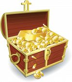 foto of treasure chest  - Vintage - JPG