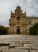 foto of carthusian  - The cobble stones in the courtyard of the Carthusian in Jerez - JPG
