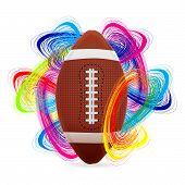Постер, плакат: Американский футбол мяч