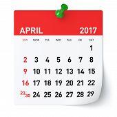 April 2017 - Calendar poster