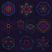 Classical Sacred Geometry Symbols poster