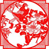 picture of kirigami  - Traditional Chinese culture - JPG