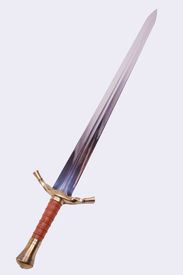 foto of longsword  - A steel longsword isolated on over white - JPG
