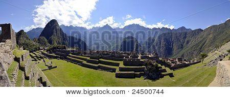 Machu Pichu With Huayna Picchu In Peru