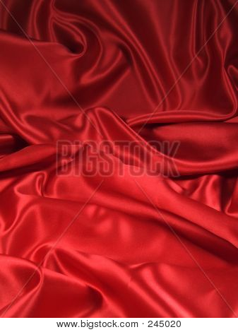 Red Satin Fabric [portrait]