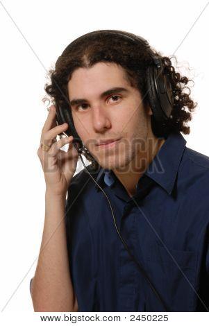 Headphone Listening Young Man