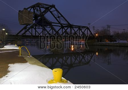 Railroad Bridge Over Erie Canal In Tonawanda, Ny