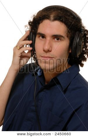 Headphone Listen Young Man