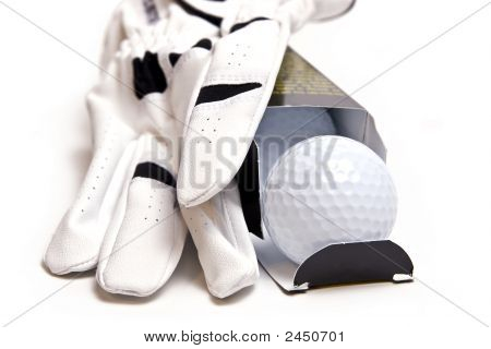 Boxed Golf Balls And Golf Glove