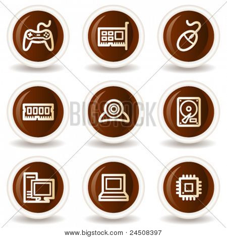 Computer web icons, chocolate  buttons