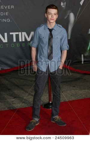 """LOS ANGELES - OCT 20:  Cameron Monaghan arriving at the """"In Time"""" Los Angeles Premiere at the Los Angeles on October 20, 2011 in Westwood, CA"""