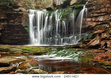 Elakala Falls In West Virginia