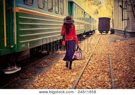 girl in train