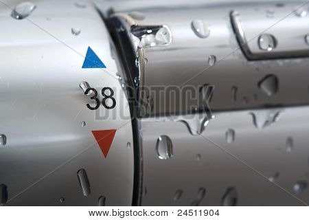 Shower Mixer With Water Drops