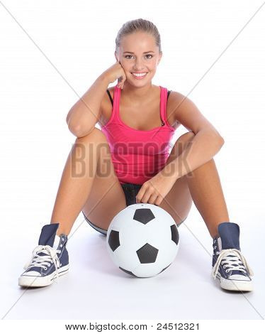 Beautiful Smile From Young Teenage Sports Girl