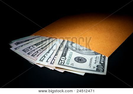 Dollar Bills In Plain Brown Envelope As Hush Money