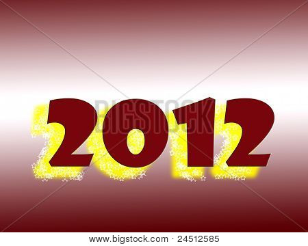 2012, New Year with stars