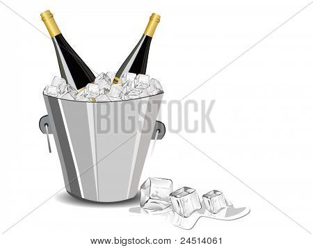 champagne bottle,ice cube bucket for new year celebration