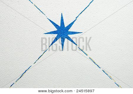Radiating blue Star