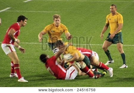 Rugby World Cup 2011 Australia Versus Wales