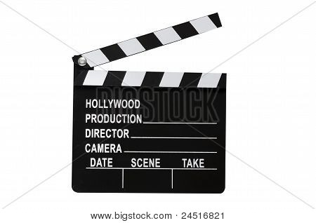 Movie Clapboard Isolated