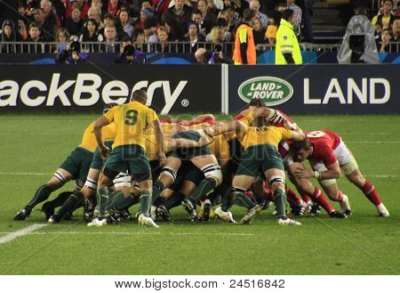 Rugby World Cup 2011 Australia frente a Gales