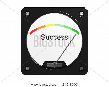 Success Measuring Device. Isolated On The White Background