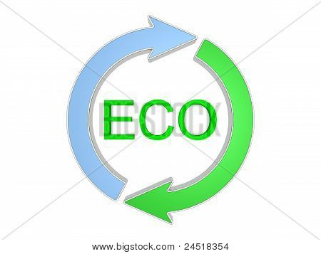 Eco-friendly Sign. Isolated On The White Background